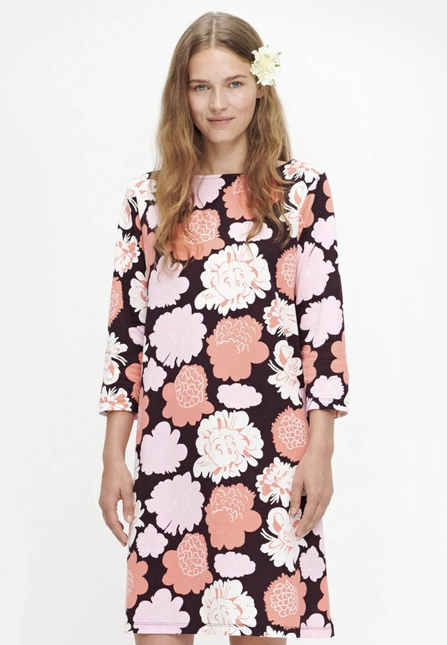 SITRIINI PIENI PIONI  - Day dress - black/peach/pink