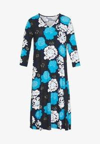 Marimekko - ILTAMA PIENI PIONI DRESS - Jerseyklänning - dark blue/black/vivid blue - 4