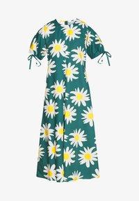 Marimekko - HELAKKA RAKASTAA EI RAKASTA DRESS - Kjole - green/off-white/yellow - 4