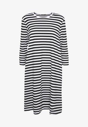 ARETTA DRESS - Sukienka z dżerseju - white/black