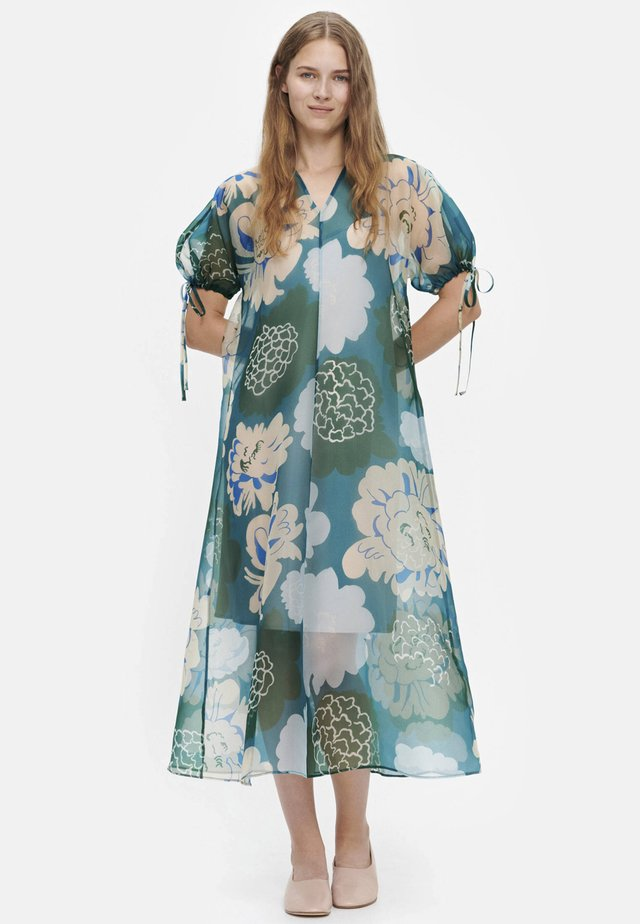 Day dress - green, turquoise