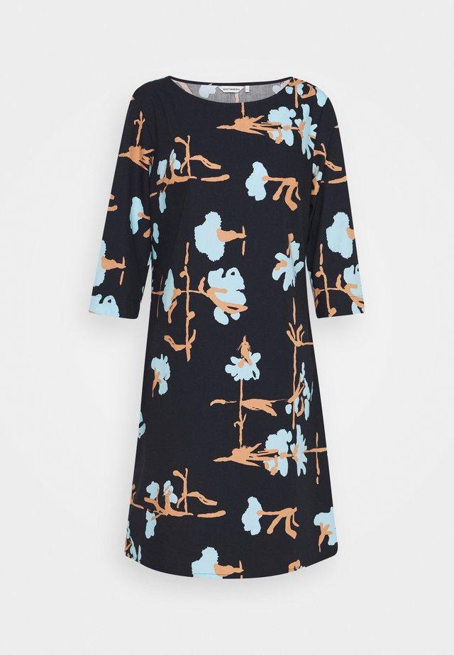 PARVI RISTIKUKKA DRESS - Korte jurk - black/light blue