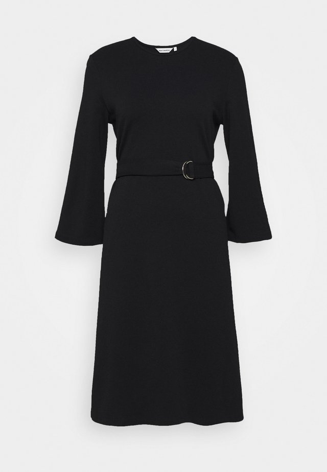 KALEET DRESS - Jerseykjole - black