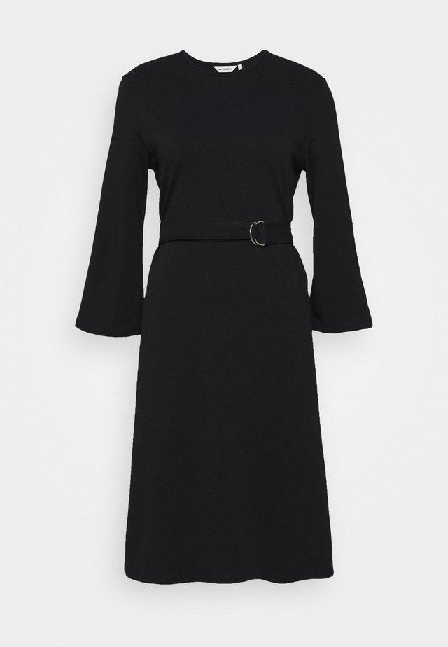 KALEET DRESS - Jerseyjurk - black