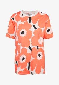 Marimekko - KIOSKI HIEKKA PIENI UNIKKO - Print T-shirt - beige/coral/black - 4