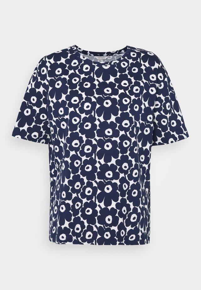 NEA UNIKKO - T-shirt print - dark blue