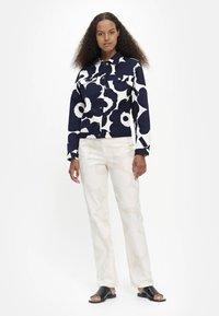 Marimekko - SARPIO UNIKKO - Summer jacket - off-white/dark blue - 1