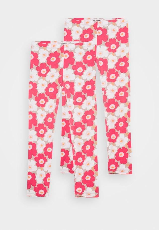LAIRI UNIKKO TROUSERS 2 PACK - Leggings - Trousers - beige/pink/white