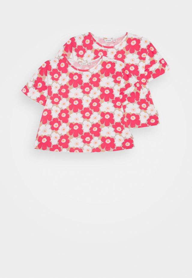 TELTTA UNIKKO 2 PACK - Jersey dress - beige/pink/white