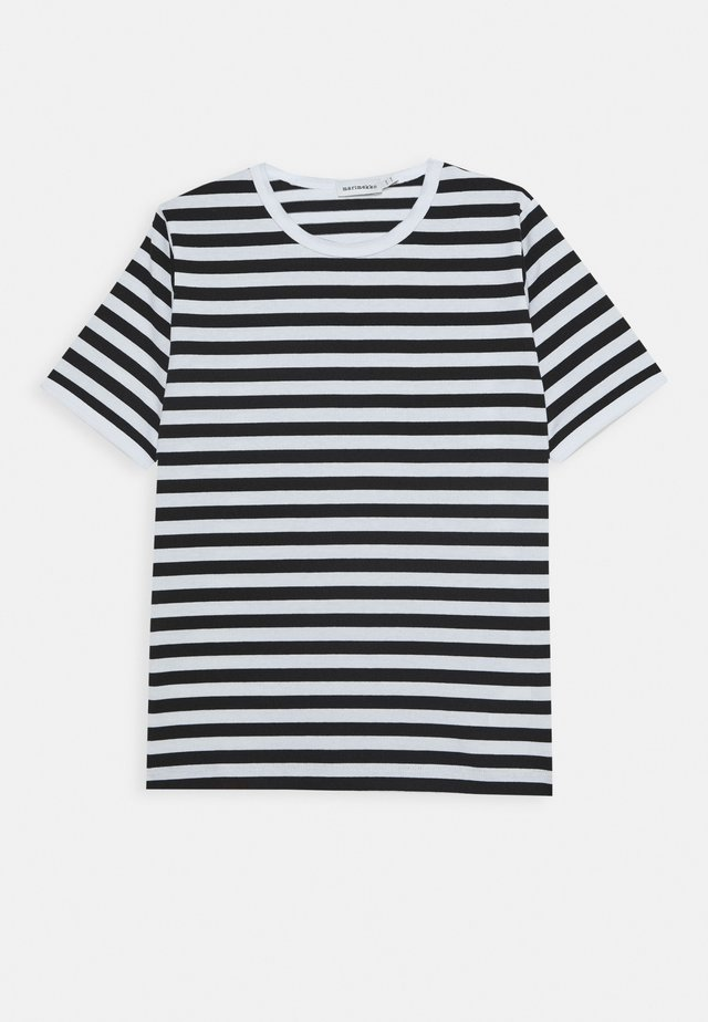 LASTEN LYHYTHIHA - Print T-shirt - white/black
