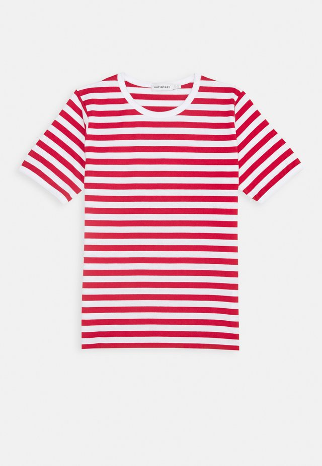LASTEN LYHYTHIHA - Camiseta estampada - white/red