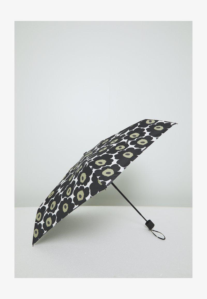 Marimekko - UNIKKO MINI MANUAL UMBRELLA - Paraply - white/black/olive