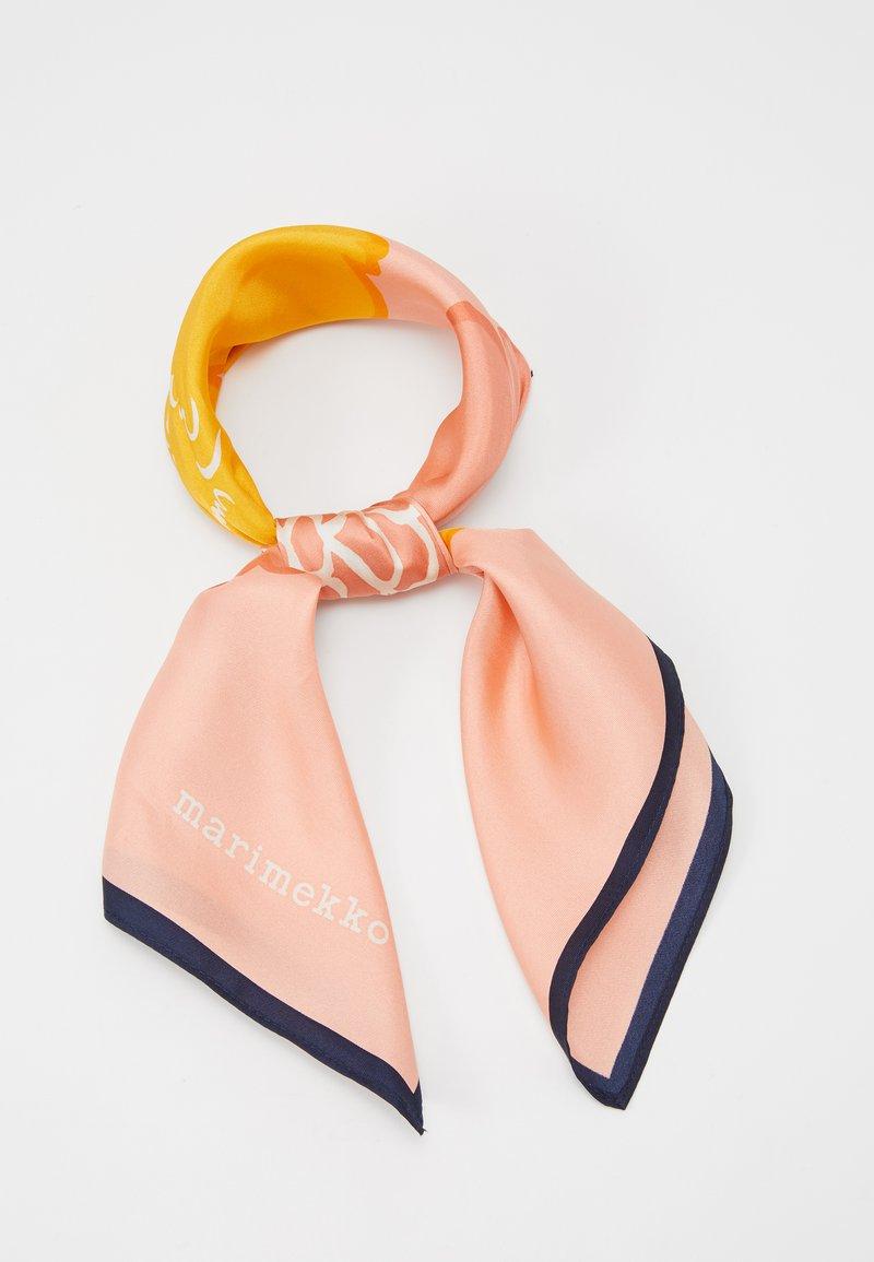 Marimekko - JOSINA PIONI SCARF - Foulard - coral/yellow/navy