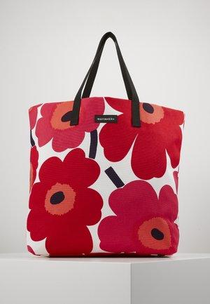 SILJA BAG - Tote bag - white/red