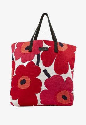 SILJA BAG - Shoppingveske - white/red