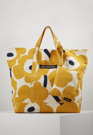 ISO PERUSKASSI UNIKKO SET - Shopping bag - off white/yellow/dark blue