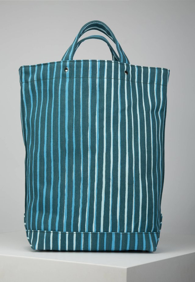 Tote bag - blue/green/light turquoise