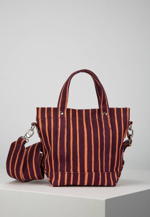 Handbag - burgundy/coral
