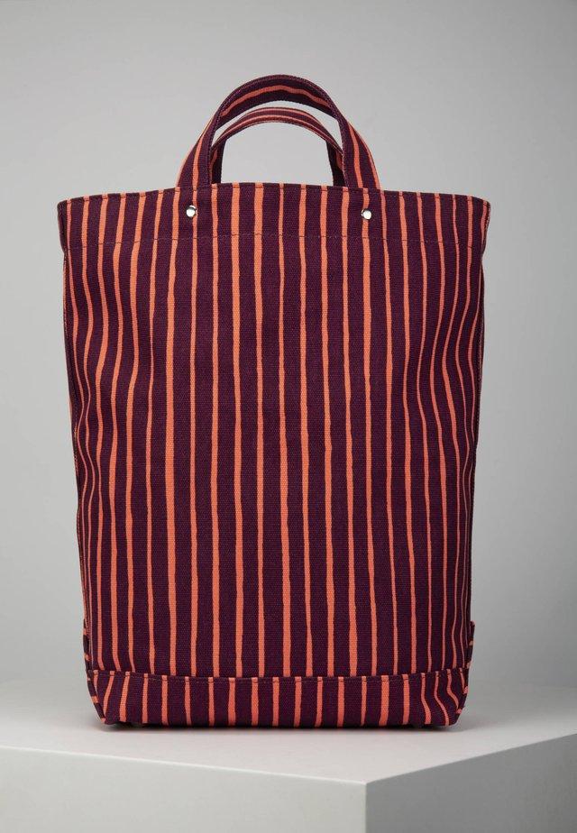 Tote bag - burgundy/coral