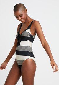 Maryan Mehlhorn - VOYAGE SWIMSUIT - Swimsuit - black/sand - 1