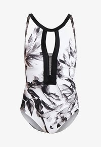 Maryan Mehlhorn - NIGHT GARDEN SWIMSUIT - Swimsuit - white/greyscale - 5