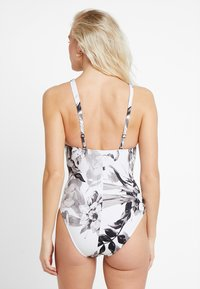 Maryan Mehlhorn - NIGHT GARDEN SWIMSUIT - Swimsuit - white/greyscale