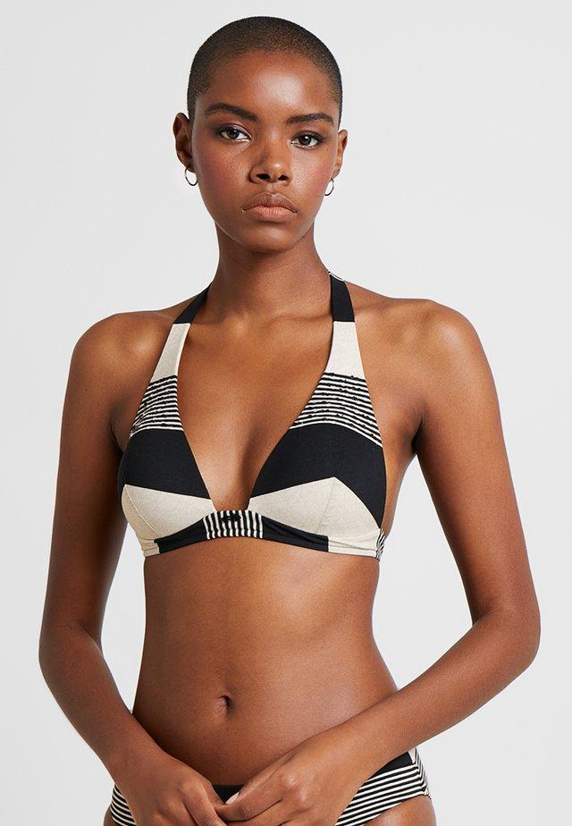 VOYAG - Bikini top - black/sand