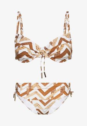 SET - Bikini - white/gold