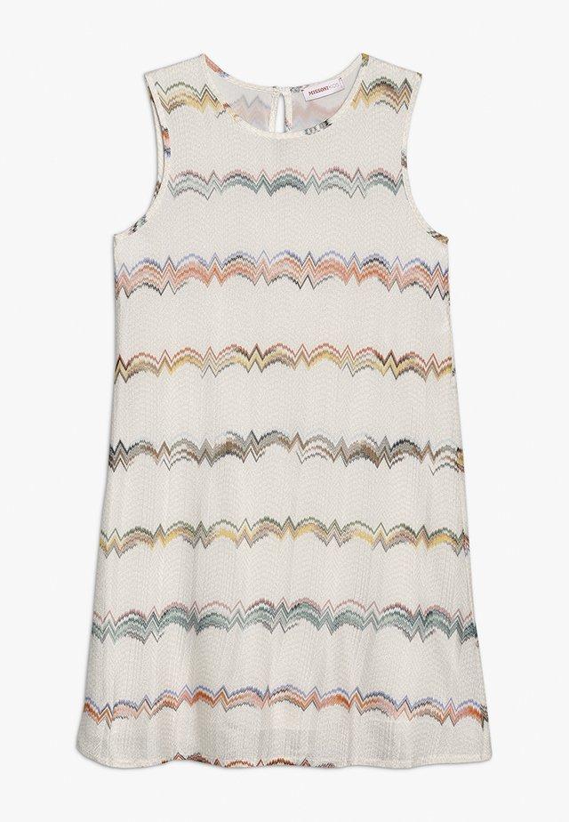 SLEEVELESS DRESS - Day dress - off-white/rose/blue