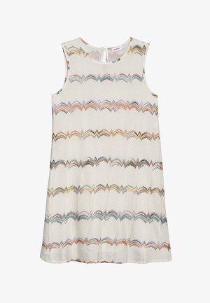 SLEEVELESS DRESS - Denní šaty - off-white/rose/blue