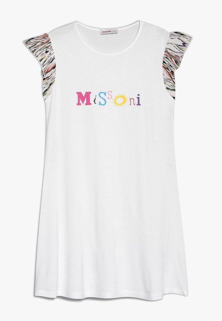 Missoni Kids - SHORTSLEEVE DRESS - Žerzejové šaty - white