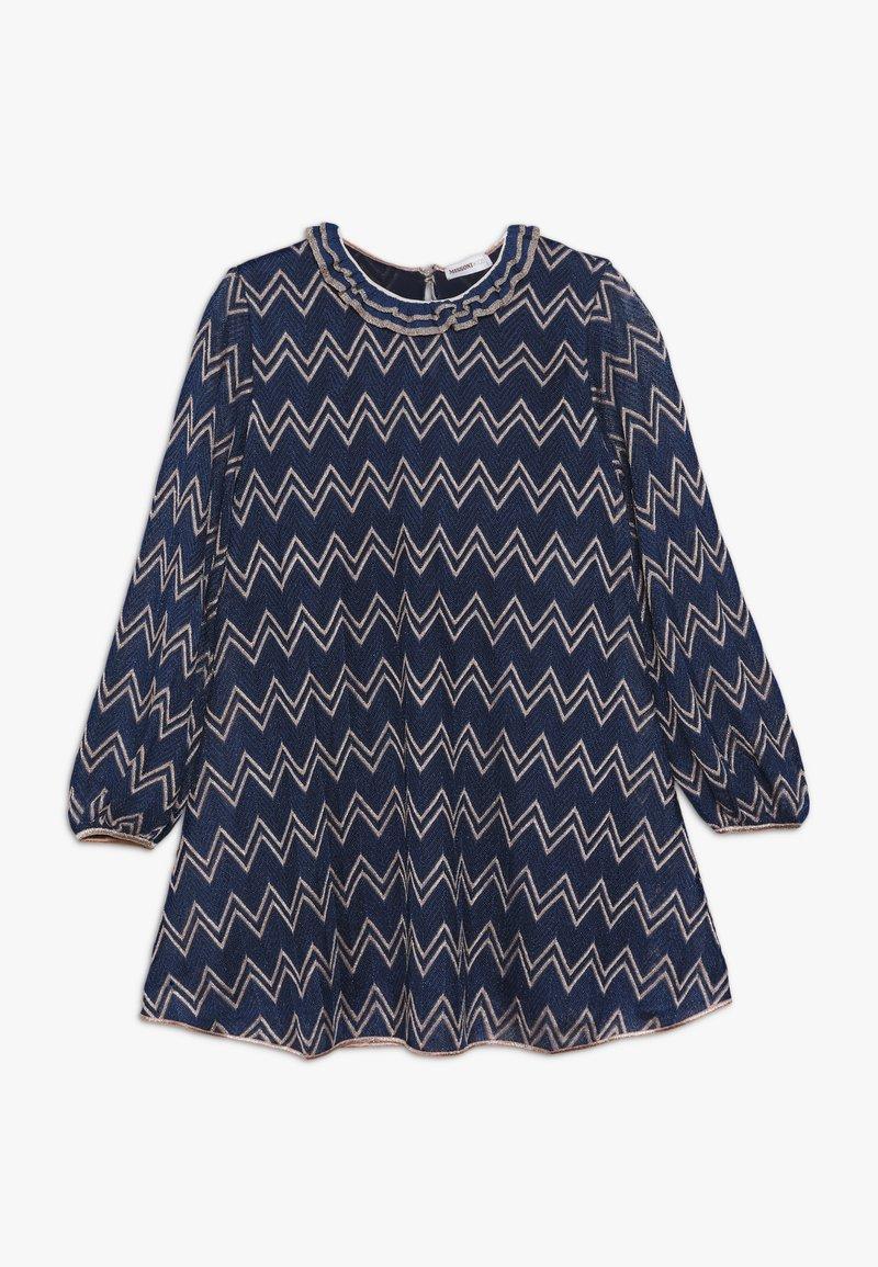 Missoni Kids - DRESS - Vestido de punto - blue