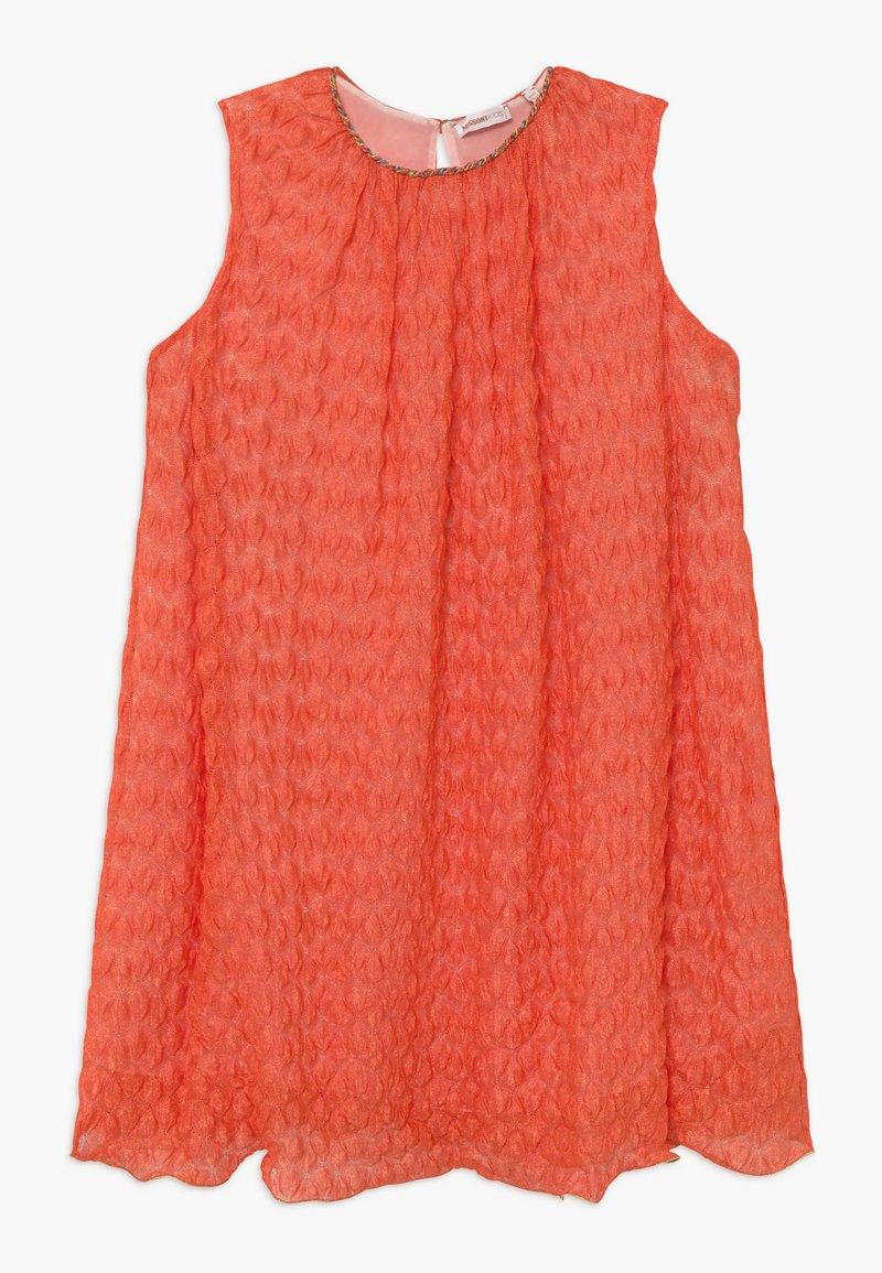Missoni Kids - Pletené šaty - orange