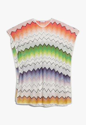KAFTAN - T-Shirt print - white/blue/rose
