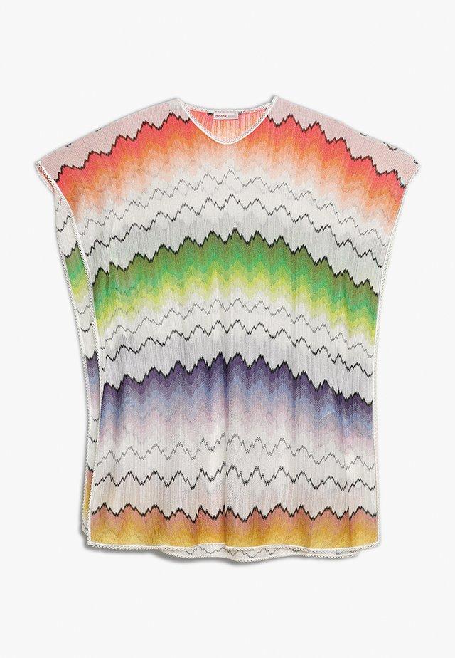 KAFTAN - Print T-shirt - white/blue/rose