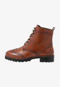 mint&berry wide fit - Lace-up ankle boots - cognac - 1