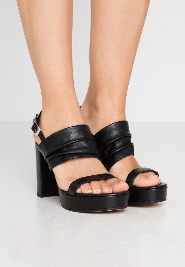 Sandály na vysokém podpatku - schwarz