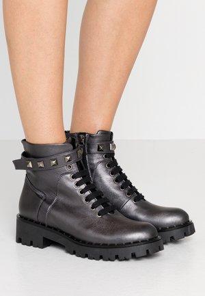 Kovbojské/motorkářské boty - anthrazit