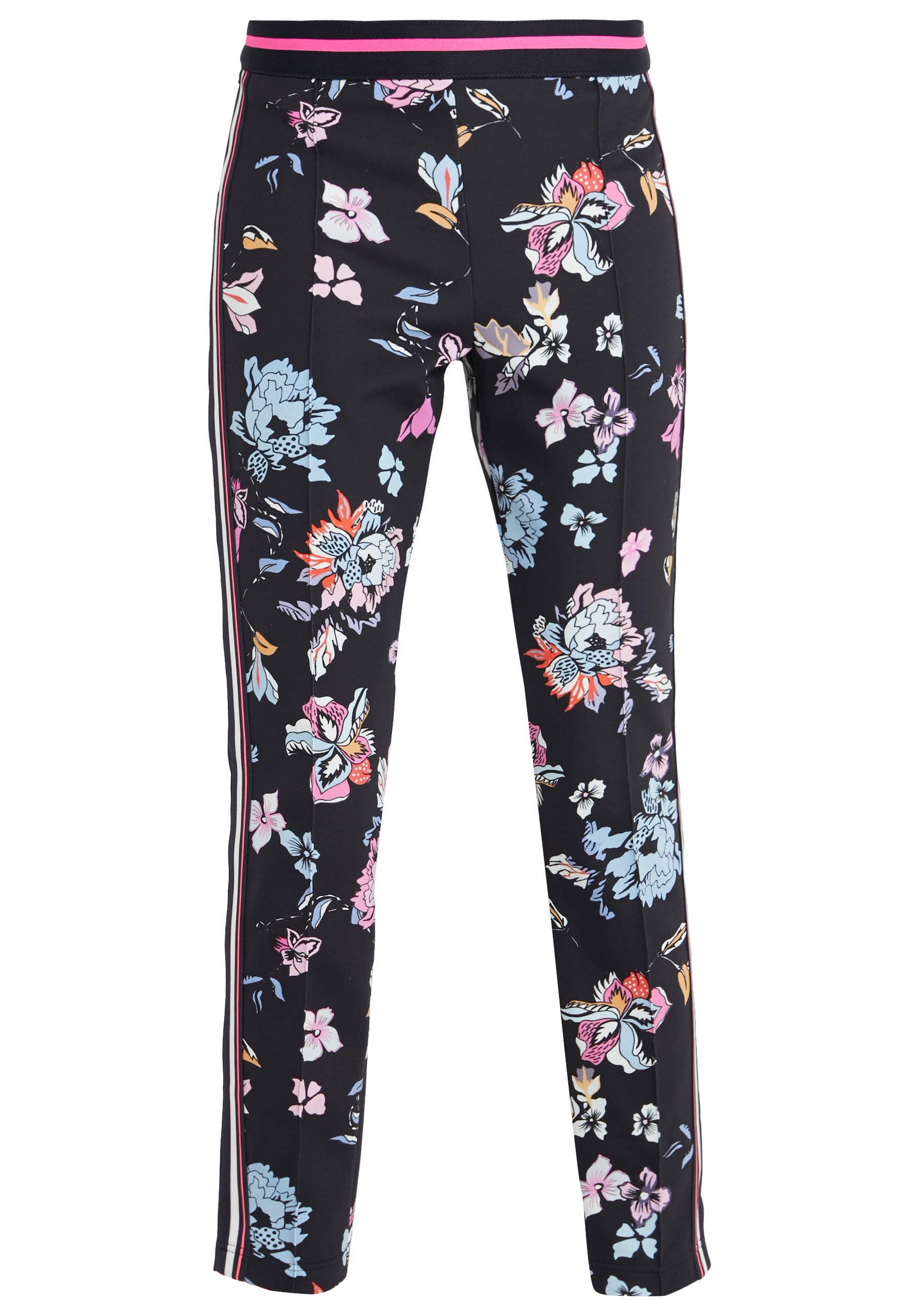 Blue Trousers with Print  Marc Cain  Bukser