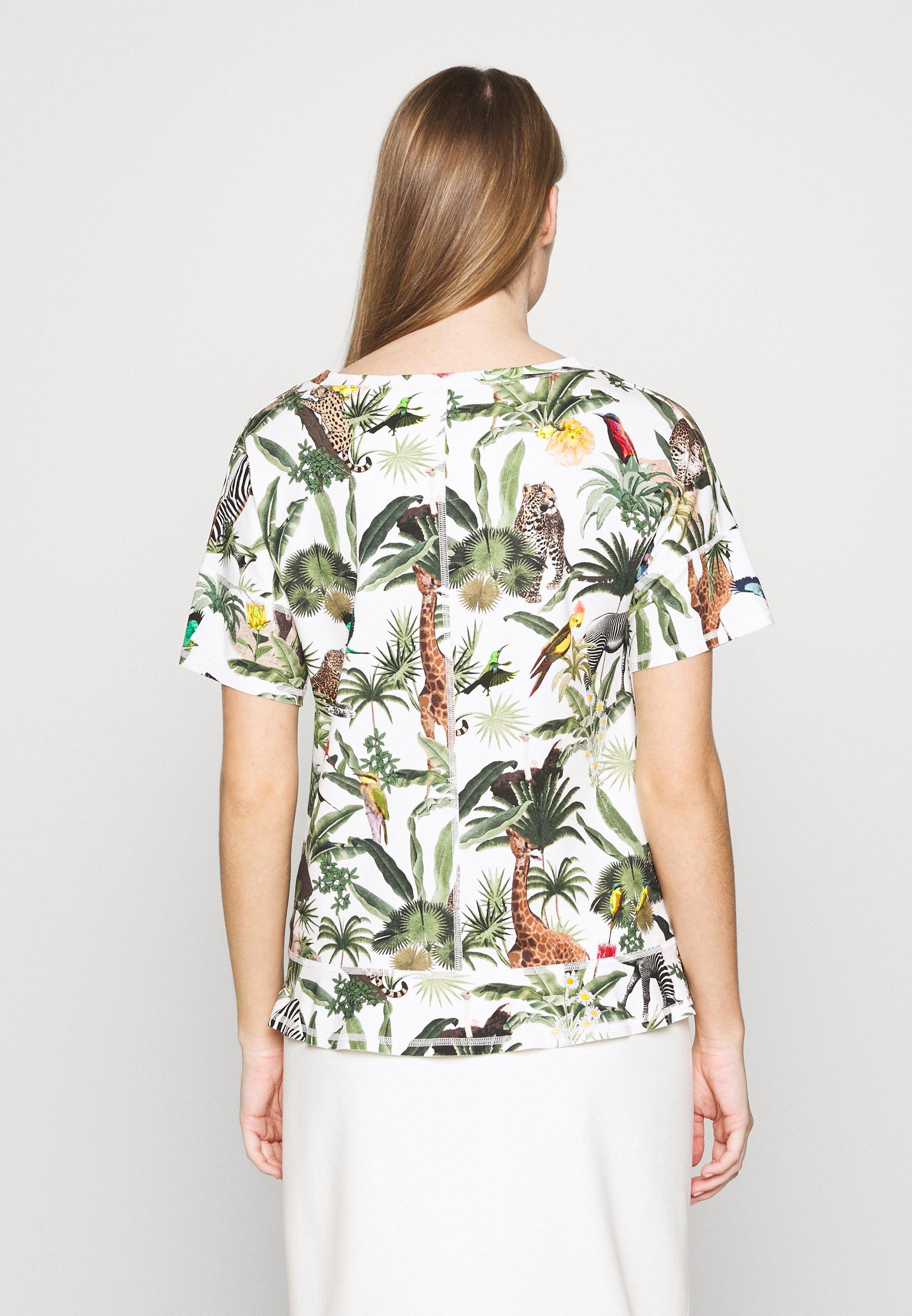 Marc Cain T-shirts med print - grün