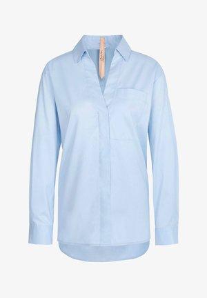 MARC CAIN DAMEN BLUSE LANGARM - Button-down blouse - bleu (50)