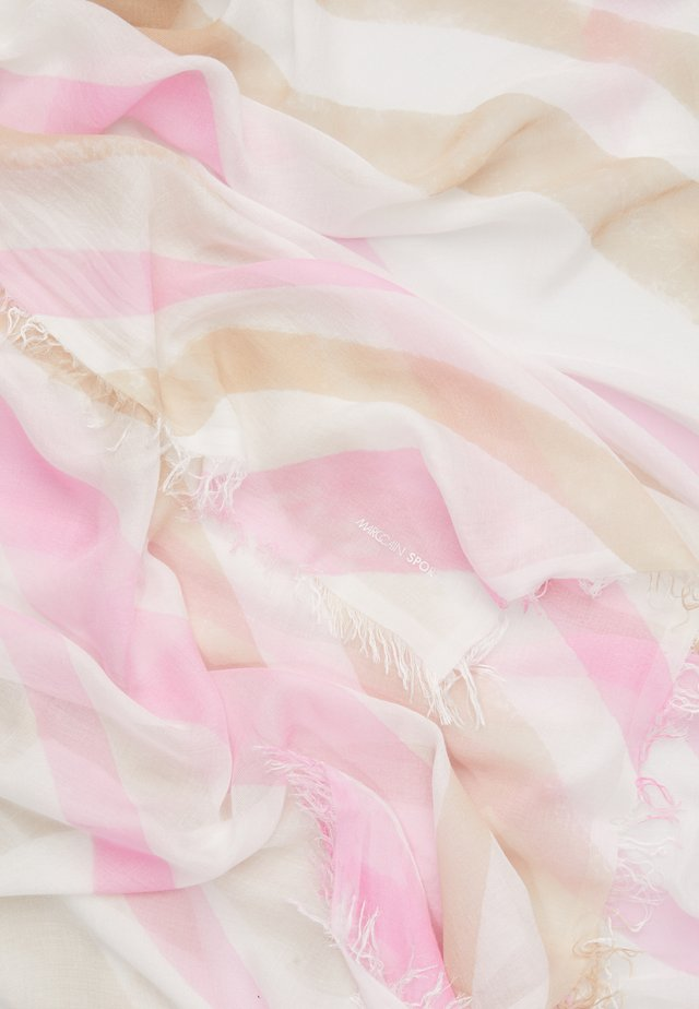 Foulard - rose/white/brown