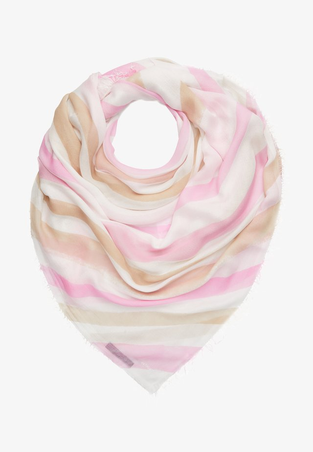 Tuch - rose/white/brown