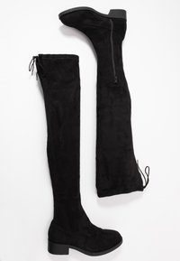 Miss Selfridge Wide Fit - WIDE FIT OLIVIA OVER THE KNEE BOOT - Over-the-knee boots - black - 3