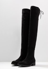 Miss Selfridge Wide Fit - WIDE FIT OLIVIA OVER THE KNEE BOOT - Over-the-knee boots - black - 4