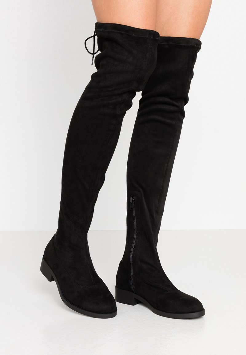 Miss Selfridge Wide Fit - WIDE FIT OLIVIA OVER THE KNEE BOOT - Over-the-knee boots - black