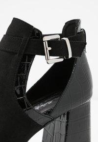 Miss Selfridge Wide Fit - WIDE FIT SUPER BLOCK HEEL - Sandals - black - 2