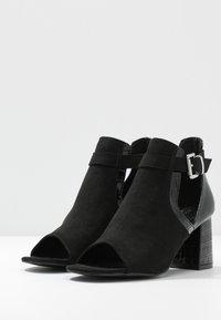 Miss Selfridge Wide Fit - WIDE FIT SUPER BLOCK HEEL - Sandals - black - 4