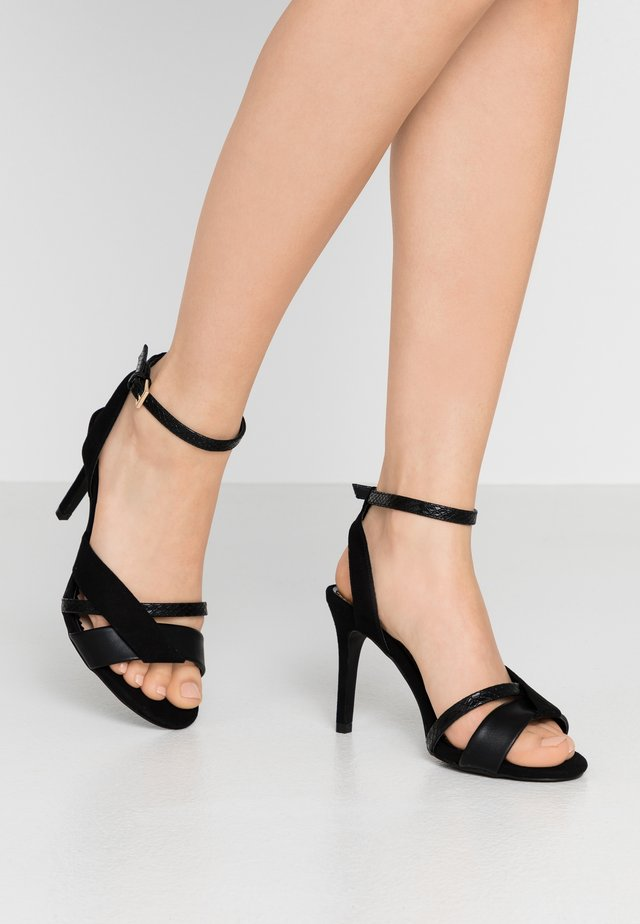 WIDE FIT STELDA HILDA UPDATE - High heeled sandals - black
