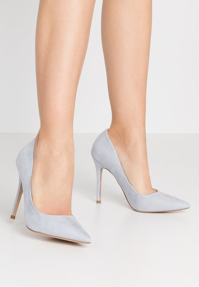 WIDE FIT CATERINA PLAIN COURT SHOE - Høye hæler - blue